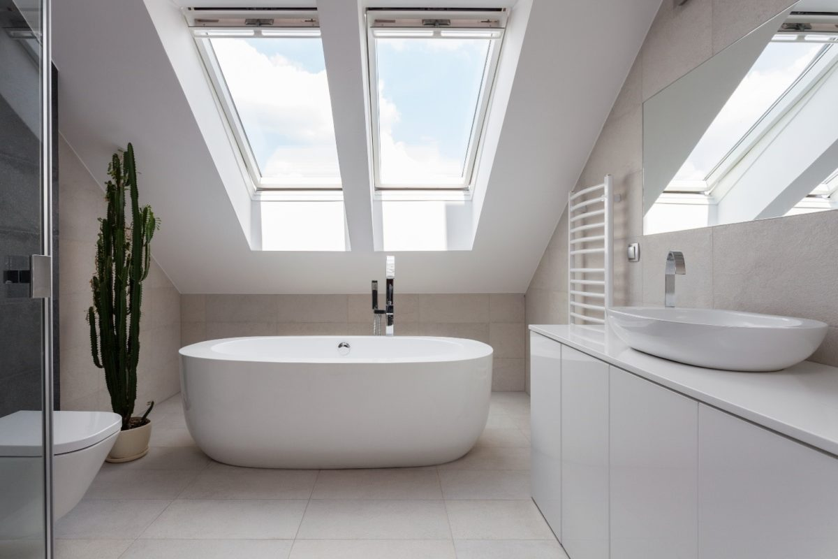 Modern Bathroom with Freestanding Tub